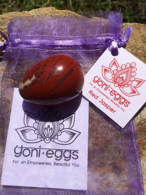 Medium Red Jasper Yoni Egg
