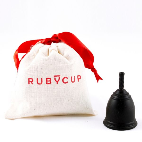 Ruby Cup Black and Bag